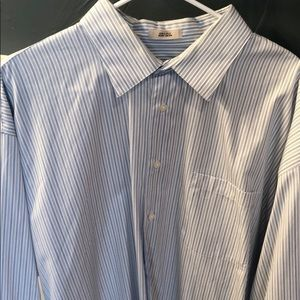 Men's Blue Stripe Dress Shirt